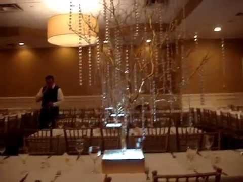 Gold Manzanita Crystal Tree Centerpiece Rentals by Sweet 16 Candelabras