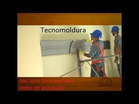 Instalação de molduras de isopor (EPS) para fachadas - Tecnomoldura