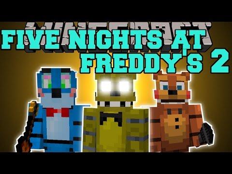Minecraft: FIVE NIGHTS AT FREDDY'S 2 MOD (JUMPSCARES, GOLDEN FREDDY, & FREDDY'S HEAD!) Mod Showcase