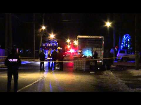 Police & Fire Investigating Uhaul Truck Used For Stealing Gas Porter st Coquitlam December 11 2013
