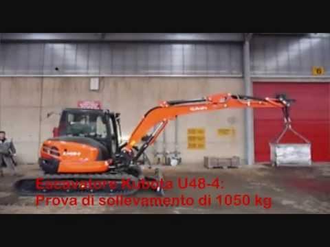 ESCAVATORI:TEST DI SOLLEVAMENTO kg.1050