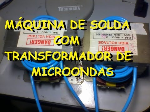 Máquina de solda com transformador de microondas 1/2
