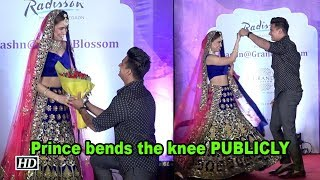 Prince goes down on his knee for Yuvika PUBLICLY - BOLLYWOODCOUNTRY