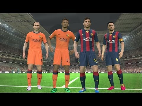 PES 2014 - Barcelona New Kits 2014 - 2015 ║ Home/Away ║