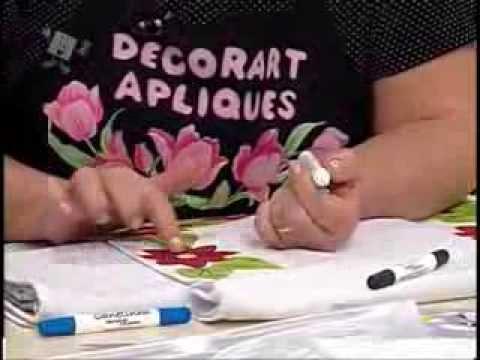 Ateliê na TV - Márcia Caires - Pano de Prato com Barrado Florais