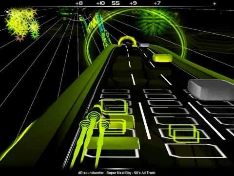 Audiosurf | dB Soundworks - 90's Ad Track | Super Meat Boy Soundtrack