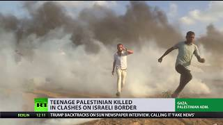 Great March of Return: Teenage Palestinian killed in clashes on Israeli border - RUSSIATODAY