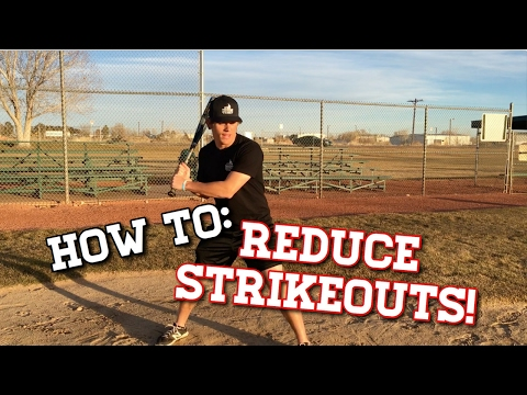 How To: REDUCE STRIKEOUTS! - Baseball Hitting Tips