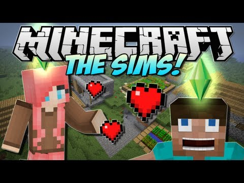 Minecraft THE SIMS in Minecraft Minecraft Comes Alive Mod Showcase 1.5.1