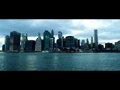 Royalty Free Stock Footage of Manhattan Bridge, skyscrapers, and Hudson River in New York City.