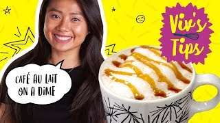 How to Make a Homemade Cafe Au Lait | VIV'S TIPS - FOODNETWORKTV