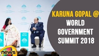 Karuna Gopal speaks On Technology, Smart living at World Government Summit at Dubai | Mango News - MANGONEWS