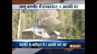 5 LeT terrorists killed in Jammu and Kashmir's Bandipora - INDIATV