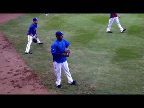 Neftali Feliz Warms Up for World Series (Raw HD)