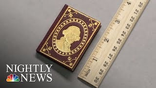 University Of Lowa Cataloging 4,000 Tiny Literary Jewels | NBC Nightly News - NBCNEWS