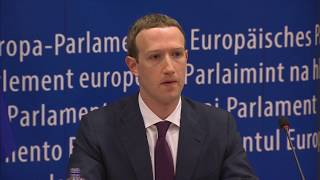 Facebook's Mark Zuckerberg meets with the European Parliament - SKYNEWS