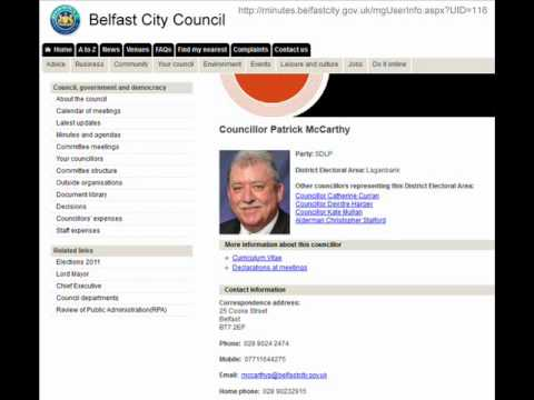 SDLP Belfast City Councillor Pat McCarthy Interview On Lennox