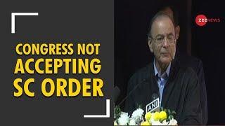 Arun Jaitley: Congress is not ready to accept SC order on Rafale deal - ZEENEWS