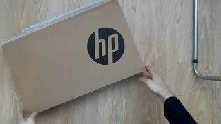 2017  HP 15-ac002ur - UNBOXING распаковка (15.6