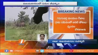 విజయనగరం జిల్లాలో ఏనుగులు బీభత్సం | Elephants Destroyed Banana Crop at at Gijaba Village | iNews - INEWS