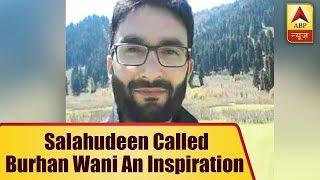 Hizbul Mujaheddin Chief Sayeed Salahudeen had called Burhan Wani an inspiration for Kashmi - ABPNEWSTV