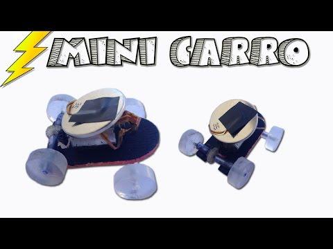 Mini Carro Eléctrico Casero con un Pila de Reloj