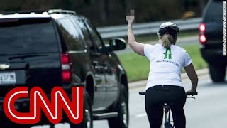 Woman who flipped off Trump runs for office - CNN