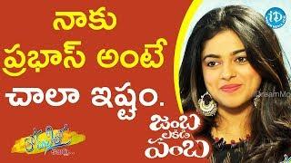 I Love Prabhas - Siddhi Idnani || Anchor Komali Tho Kaburulu - IDREAMMOVIES