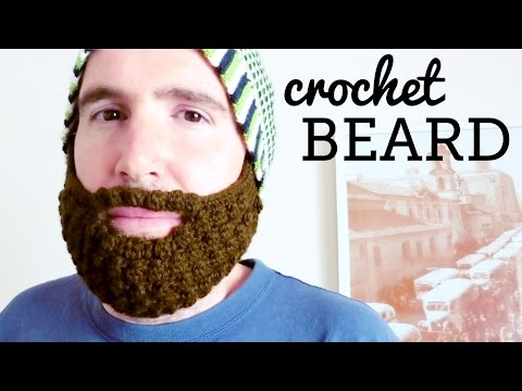 How to crochet a BEARD for all hats, all sizes ♥ CROCHET LOVERS