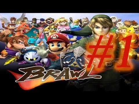 Super Smash Bros Brawl #1-Peleas de series Comentando