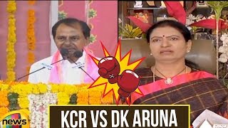 Powerful Punch Fight Between KCR and DK Aruna Back to Back | KCR Vs AK Aruna B2B Speech | Mango News - MANGONEWS