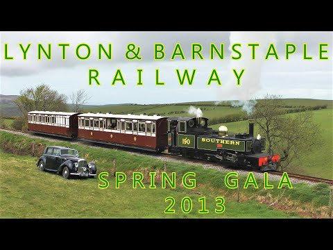 Lynton & Barnstaple Railway 10th Anniversary Gala Restored Coaches 7 & 17 Lyd 11th May 2013