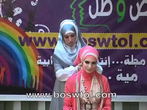 how to wear pashmina hijab tutorial by Jailan Atif