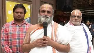 Chilkur Balaji Temple Priest Rangarajan Praises Maharshi Team | TFPC - TFPC