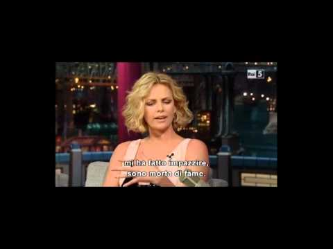 charlize theron  david letterman show
