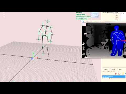 Maya with Kinect/OpenNI Realtime capture Test
