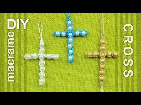 Beaded Macrame Cross / Easy DIY Tutorial