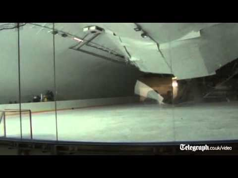 Roof collapses on ice hockey rink as players train in Slovakia