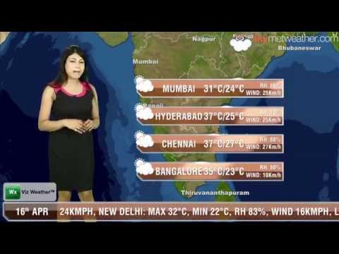 16/04/14 - Skymet Weather Report for India