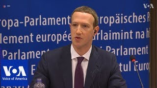 Facebook's Zuckerberg Apologizes to EU Lawmakers - VOAVIDEO