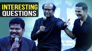 Media Asks Interesting Questions To 2.0 Team   Rajinikanth   Akshay Kumar   Shankar   TFPC - TFPC