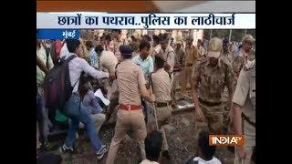 Mumbai: Railway traffic affected as 'rail-roko' agitation by railway job aspirants, continues - INDIATV