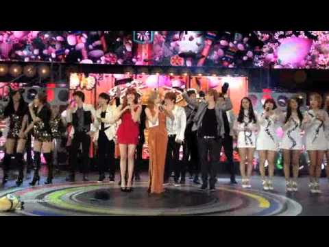 [FANCAM] SuJu, B2ST, MBLAQ, TVXQ, f(x), SNSD & more! (MBC Korean Music Wave In Google - 120521)