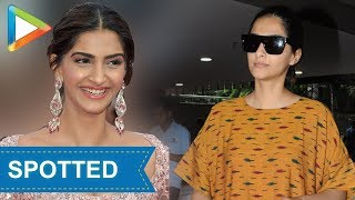SPOTTED : Sonam Kapoor at airport - HUNGAMA