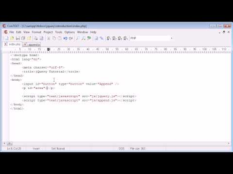 jQuery Tutorial - 78 - append