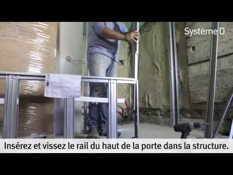 Related video for Poser une porte coulissante a galandage