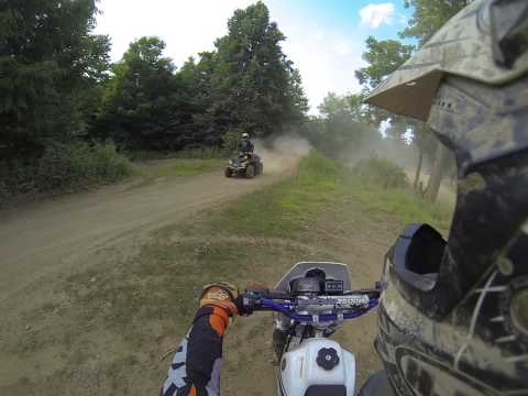 Majestic trails 6-29-14 Ktm250 Can am outlander xxc on mx track