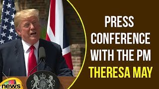 Trump Participates in a Joint Press Conference with the PM Theresa May | Trump Speech | Mango News - MANGONEWS