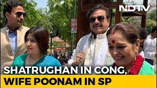 Shatrughan Sinha, Congress, Will Campaign For Wife Poonam Sinha, Samajwadi Party - NDTV