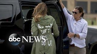 Melania Trump's jacket causes stir on social media - ABCNEWS